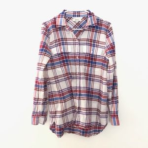 Madewell Medium Button Front Plaid Shirt